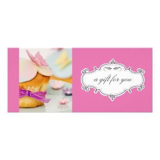 Bakery or Cupcake Business Gift Certificates Full Color Rack Card