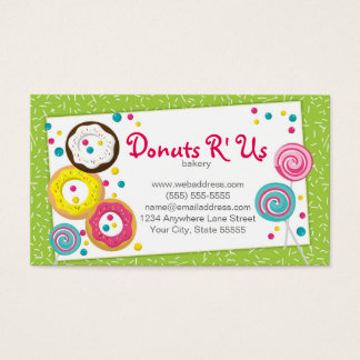 Bakery Pastry Chef Business Card Design Template