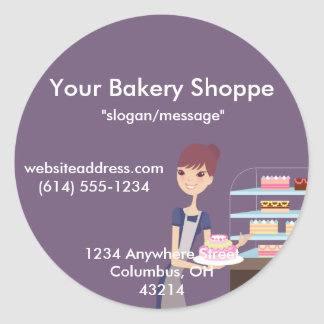 Bakery/Pastry Shop 4 Design Classic Round Sticker