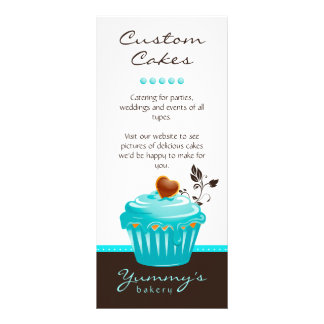 Bakery Rack Card Cupcake Blue Chocolate Brown