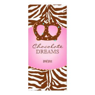 Bakery Rack Card Pretzel Pink Chocolate Brown