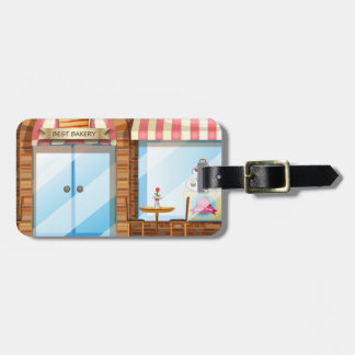 Bakery shop luggage tag