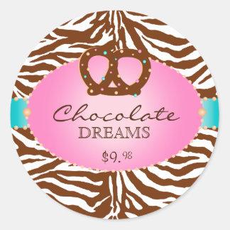 Bakery Stickers Pretzel Chocolate Pink