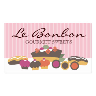 Bakery sweets cake cupcakes eclairs cookies bus... business card