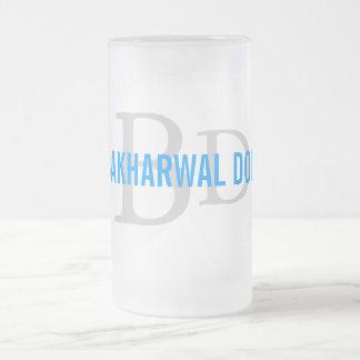 Bakharwal Dog Monogram Design 16 Oz Frosted Glass Beer Mug