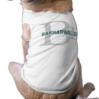 Bakharwal Dog Monogram Design Doggie Tee Shirt