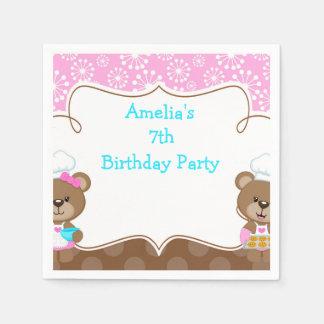 Baking Bear Birthday Party Paper Napkin
