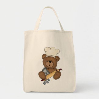 Baking Bear Grocery Tote Bag