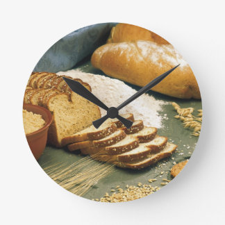 Baking Bread Round Clock