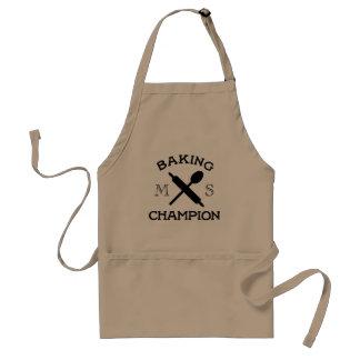 Baking Champion Monogram Kitchen Apron for Bakers