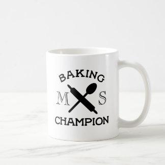 Baking Champion Monogram White Mug