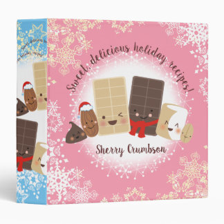 Baking chocolate nuts Christmas recipe binder