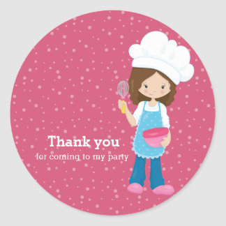 Baking * choose your background color round sticker