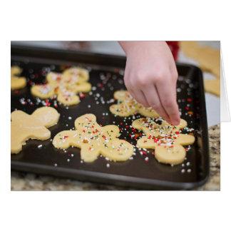 Baking Christmas Cookies Greeting Card