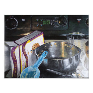 Baking Cookies in the Kitchen Acrylic Painting Photo Print