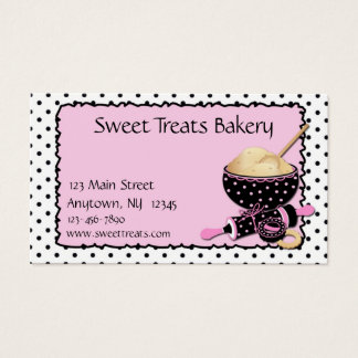 Baking Cookies Polka Dots Business Card