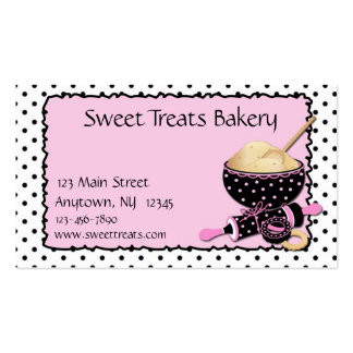 Baking Cookies Polka Dots Pack Of Standard Business Cards