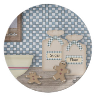 Baking Gingerbread Plate
