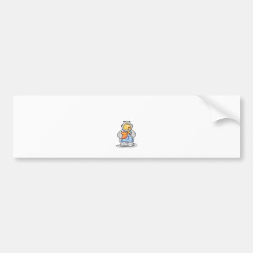 Baking Hippo eating dough - Personalize with name Bumper Sticker