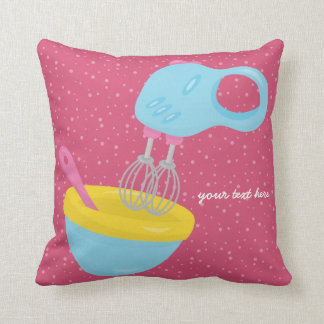 Baking is fun * choose your own background color throw pillow