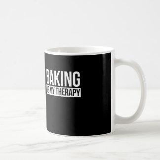 Baking is my therapy coffee mug