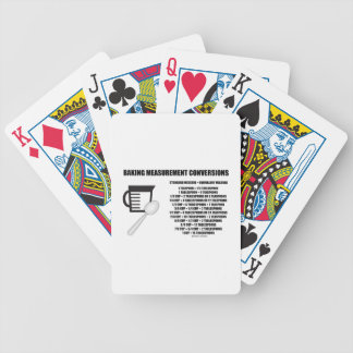 Baking Measurement Conversions (Measure) Bicycle Playing Cards