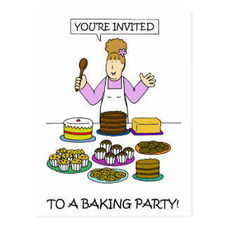 Baking Party Invitation Postcard
