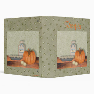 Baking Pumpkin Pie Recipe Album Binders