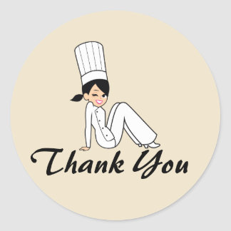 Baking Sale Thank You Sticker Label with Artwork