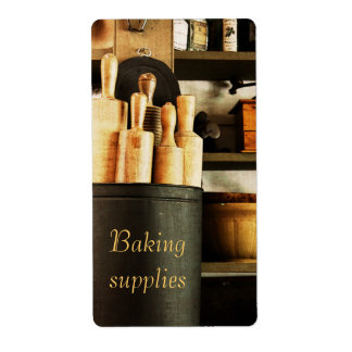 baking supplies customizable container label shipping label