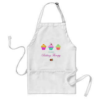 Baking Therapy Colorful Cupcake Apron