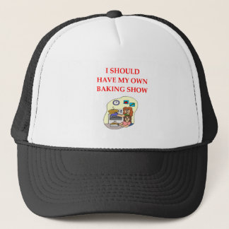 baking trucker hat