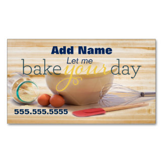 Baking Your Day Custom Magnetic Business Cards
