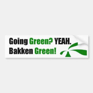 Bakken Green Bumper Sticker