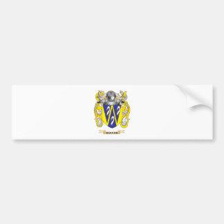 Bakker Coat of Arms (Family Crest) Bumper Sticker