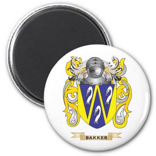Bakker Coat of Arms (Family Crest) Magnets