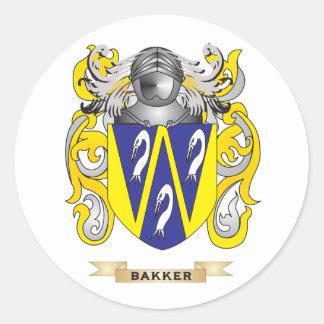 Bakker Coat of Arms (Family Crest) Round Sticker