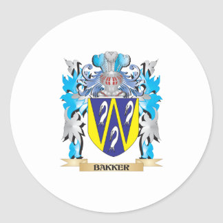Bakker Coat of Arms Round Stickers