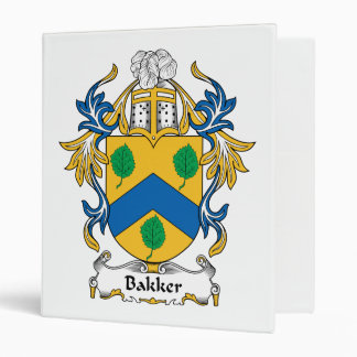 Bakker Family Crest 3 Ring Binders