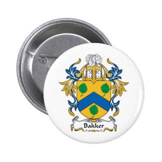 Bakker Family Crest Pins
