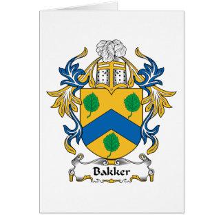 Bakker Family Crest Greeting Cards