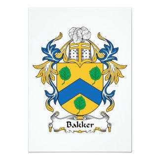 Bakker Family Crest 5x7 Paper Invitation Card