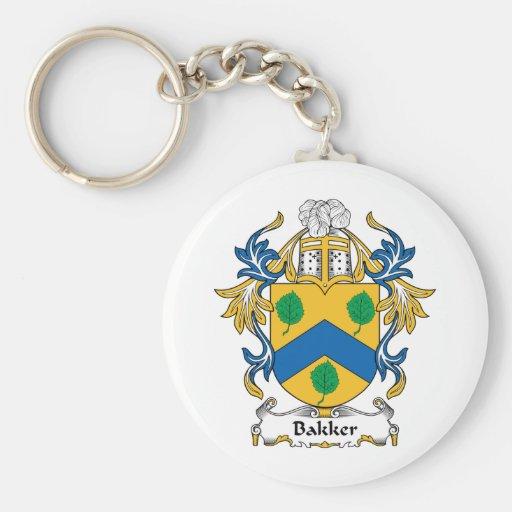 Bakker Family Crest Key Chains