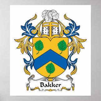 Bakker Family Crest Poster