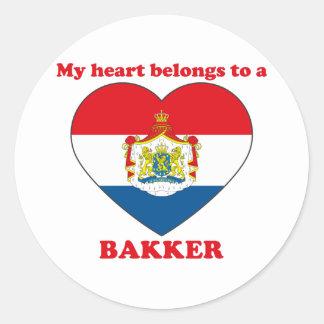 Bakker Round Sticker