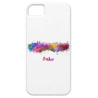 Baku skyline in watercolor iPhone 5 cases