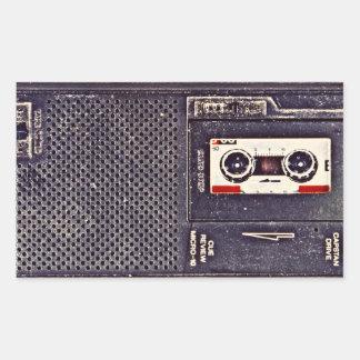 baladeur des années 80 sticker rectangulaire