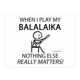Balalaika Nothing Else Matters Postcard