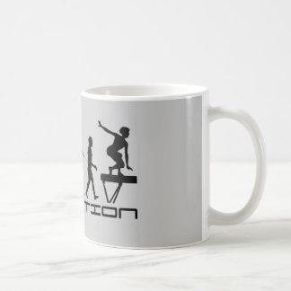 Balance Beam Gymnastics Sport Evolution Art Classic White Coffee Mug