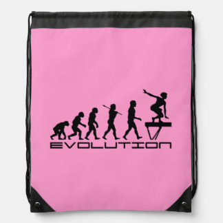 Balance Beam Gymnastics Sports Drawstring Bag
